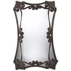 "Iron Bridge 37"" High Chalmsford Copper Wall Mirror"