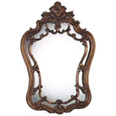"Sandyford 36"" High Northglenn Gold Wall Mirror"