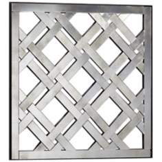 "Old World 24"" Square Decorative Geometric Wall Mirror"