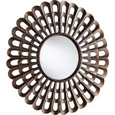 "Agoura Bronze Finish 40"" Wide Decorative Wall Mirror"
