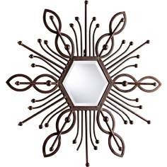 "Pico 39 1/2"" High Decorative Iron Wall Mirror"