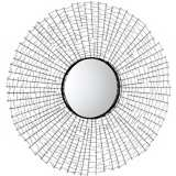 "Roxie 1 30"" Round Graphite Wall Mirror"