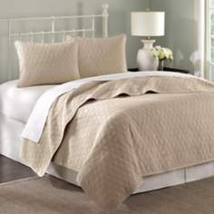 Hampton Hill Cool Cotton Geometric Coverlet Set