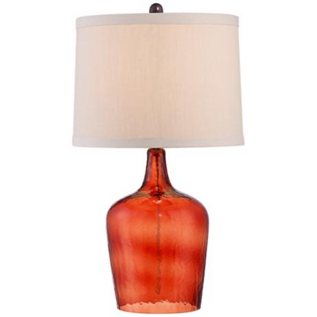 Eastport Cranberry Textured Glass Table Lamp