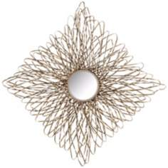 "Uttermost Kurbi 23"" High Silver Wire Wall Art"
