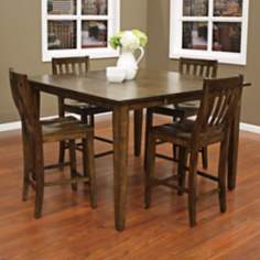 Este with Hyden Stool 5-Piece Grey Counter Height Dining Set