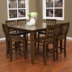 Este with Hyden Stool 7-Piece Grey Counter Height Dining Set