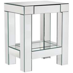 Roux Mirrored End Table