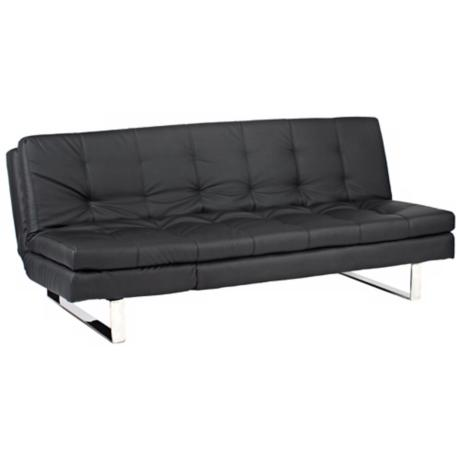 Erik Black Leatherette Sofa Bed
