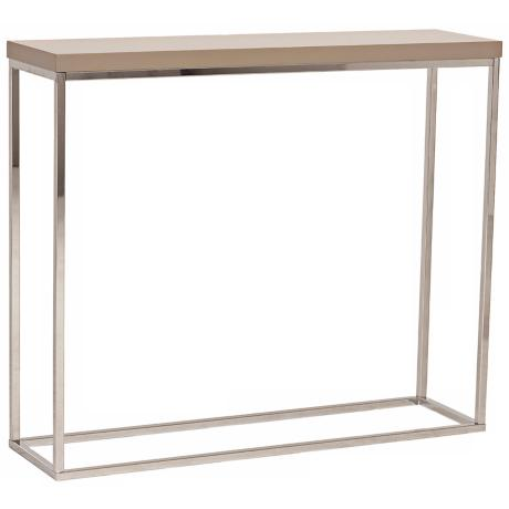Teresa Latte Steel Console Table