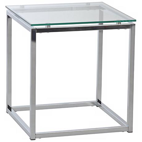 Sandor Clear Glass Side Table
