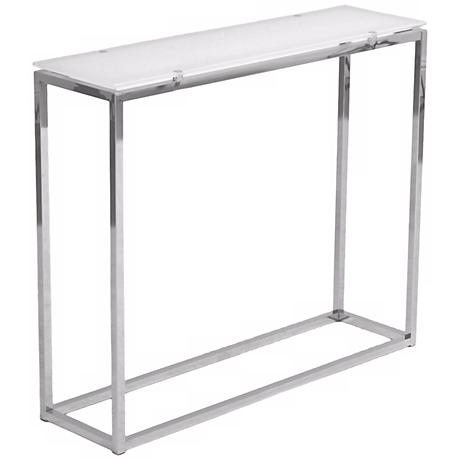 Sandor Pure White Glass Console Table