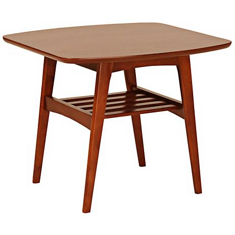 Carmela Walnut Side Table