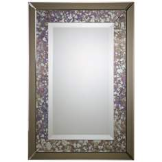 "Uttermost Zandrea 38"" High Smoked Glass Wall Mirror"