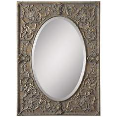 "Uttermost Posada 39"" High Framed Wall Mirror"
