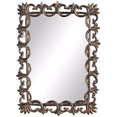 "Uttermost Martirano 44"" High Fleur-De-Lis Wall Mirror"