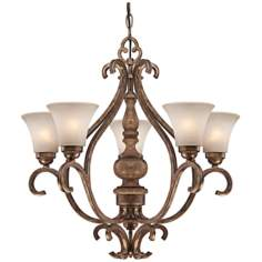 "Abbott Place 24"" Wide Oak Chandelier"