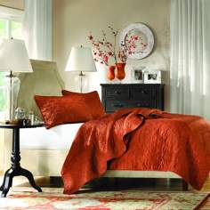 Hampton Hill Ashbourne Cinnabar Coverlet Sets