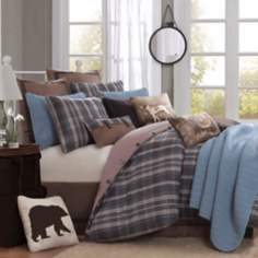 Woolrich Hadley Blue Plaid Comforter Set