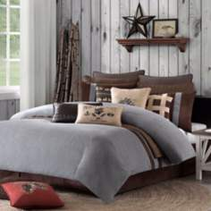 Woolrich Brownstone Grey Comforter Set