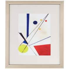 "Primary Shapes 28 1/2"" High Framed Abstract Wall Art"