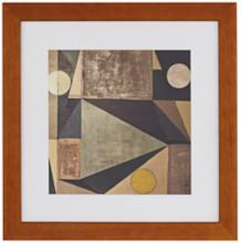 "Modern Abstract 16"" Square Framed Wall Art"