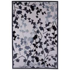 Jaipur Fables Enchanted FB18 White and Blue Area Rug