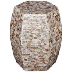 Makayla Mother of Pearl Accent Table