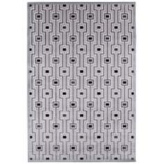 Jaipur Fables Valiant FB14 White and Black Area Rug