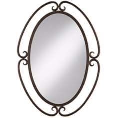 "Uttermost Kilmer III  34"" High Oval Wall Mirror"