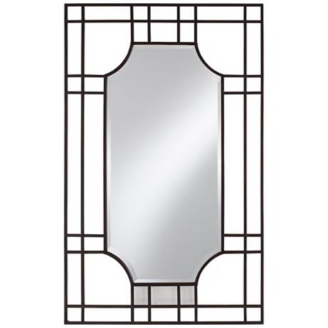 "Uttermost Sillaro 46"" High Open Metal Work Wall Mirror"
