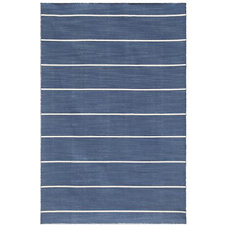 Jaipur C.L. Dhurries Cape Cod CC09 Dark Denim Rug