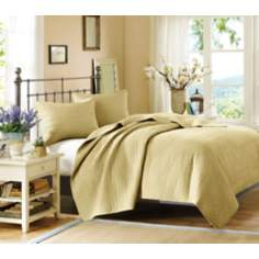 Woolrich Velvet Touch Wheat Coverlet Set