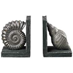 Set of 2 Seashell Bookends