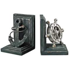 Set of 2 Coastal Bookends