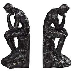 Set of 2 Thinking Man Deep Bronze Bookends