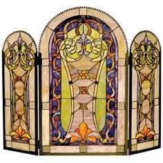 Scarberry Glass Folding Fireplace Screen