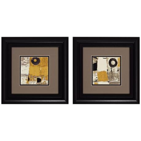 "Set of 2 Lemongrass I/II 14"" Wide Modern Wall Art"