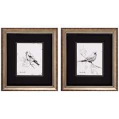 "Set of 2 Song Bird III/IV 19"" High Bird Wall Art"
