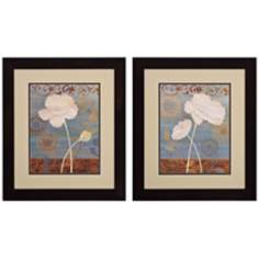 "Set of 2 Poppy I/II 22"" High Floral Wall Art"