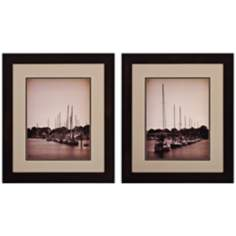 "Set of 2 At the Marina I/II 22"" High Coastal Wall Art"