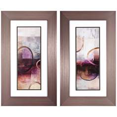 "Set of 2 Disconnected I/II 29"" High Modern Wall Art"