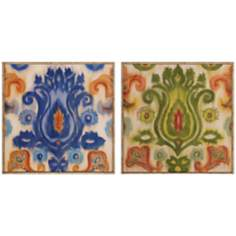 "Set of 2 Transitions 19"" Square Wall Art"