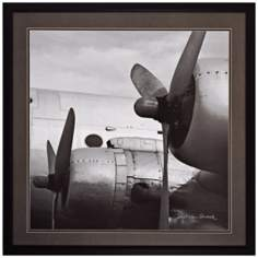 "Vintage Flight 30"" Square Airplane Wall Art"
