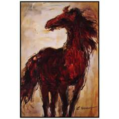 "Wild and Free 35"" High Horse Wall Art"