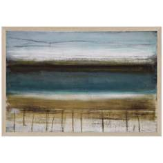 "Shoreline Horizons 36"" Wide Coastal Wall Art"