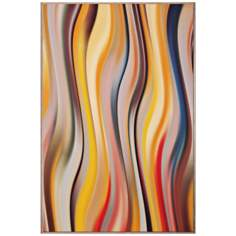 "Curve 7 36"" High Modern Wall Art"