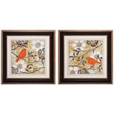 "Set of 2 Greenwood I/II 29"" Square Bird Wall Art"