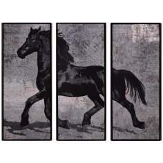 "Set of 3 Caballus III/IV/V 33"" Wide Horse Wall Art"