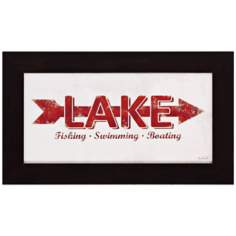 "Lake 19"" Wide Rectangular Framed Wall Art"